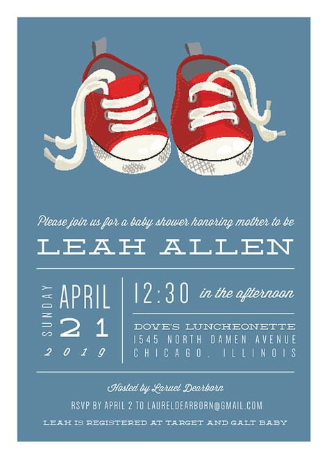 Sneakers Invitation