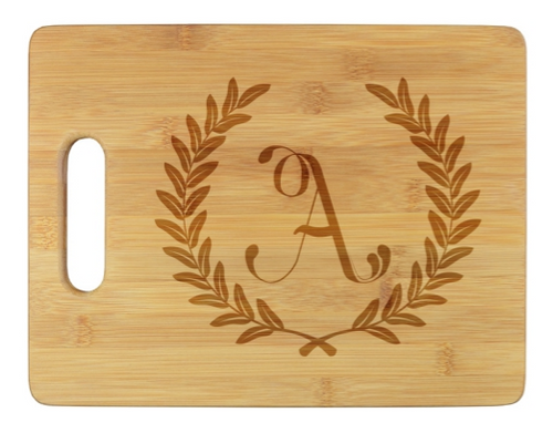 Wheat Leaf Initial Cutting Board