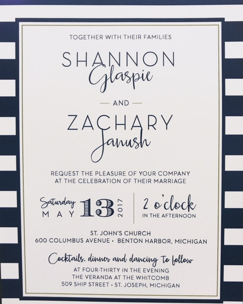 Shannon and Zach: Wedding Invitation