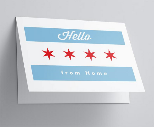 Chicago Flag Folded Note