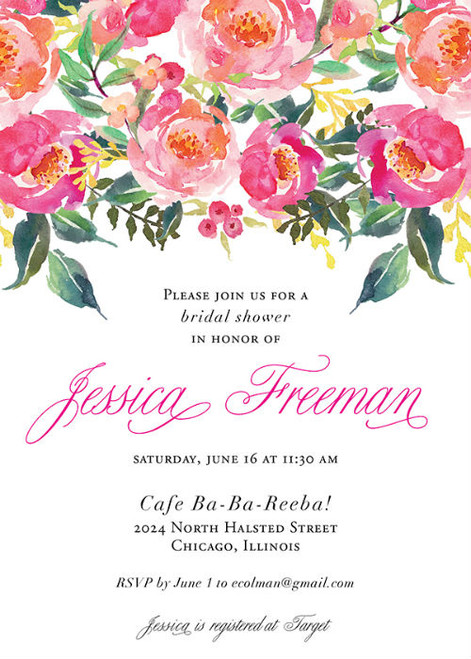 Watercolor Bridal Invitation