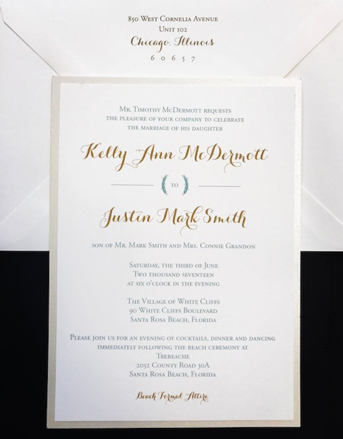 Kelly and Justin: Wedding Invitations