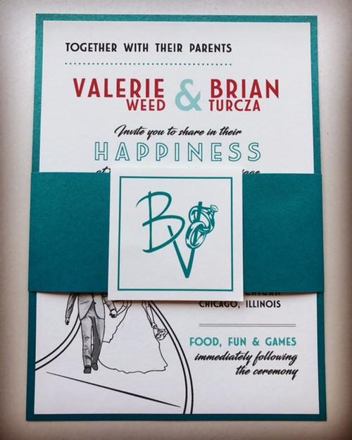 Valerie and Brian: Wedding Invitations