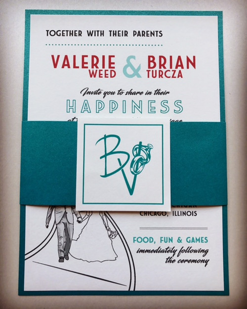Valerie and Brian: Wedding Invitations