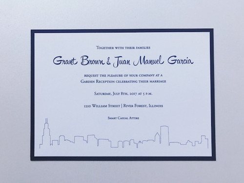 Grant and Juan: Wedding Invitation