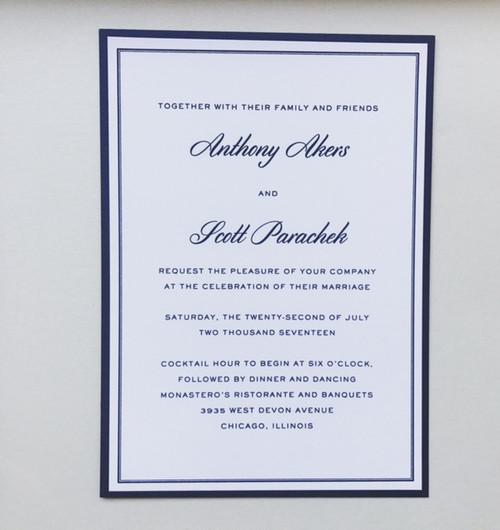 Scott and Tony: Wedding Invitation