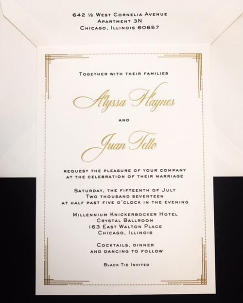 Alyssa and Juan: Wedding Invitation