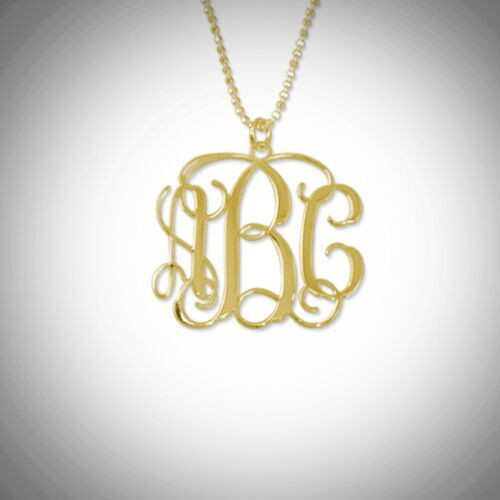 Monogram Necklace- Multiple Metals