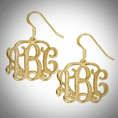 Monogram Earrings- Multiple Metals