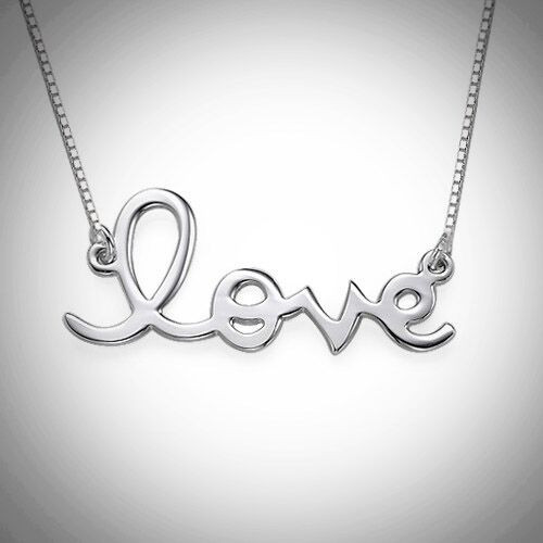 Lowercase Love Necklace