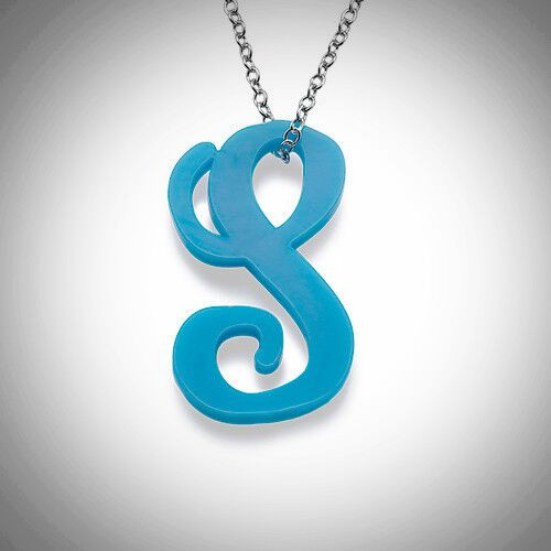 Acrylic Initial Necklace