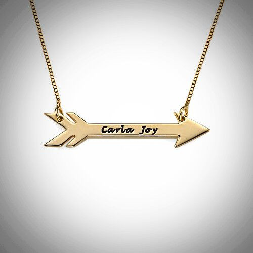Arrow Name Necklace