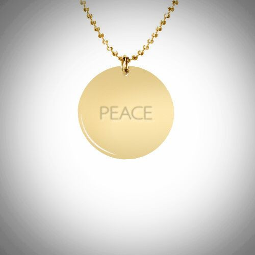 Peace Necklace- Multiple Metals