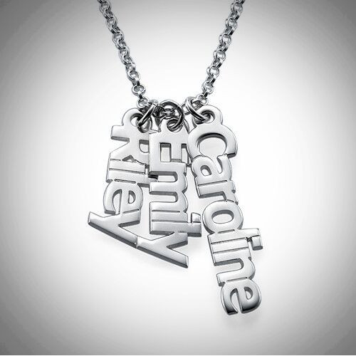 Vertical Name Necklace- Multiple Metals