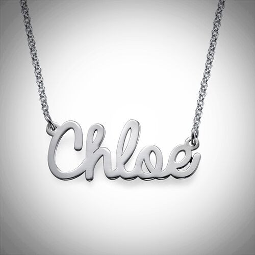 Chloe Name Necklace- Multiple Metals