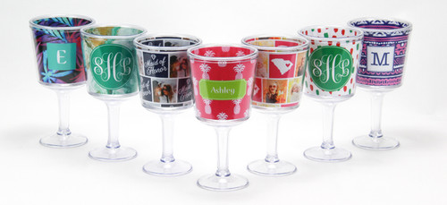 Personalized Wine Glass- Assorted Options