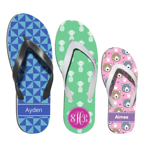 Personalized Flip Flops - Assorted Options