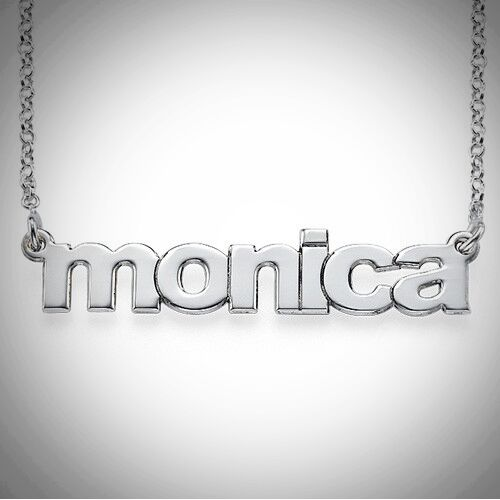 Lowercase Font Name Necklace