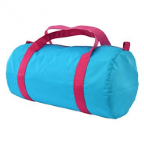 Aqua and Pink Duffel Bag