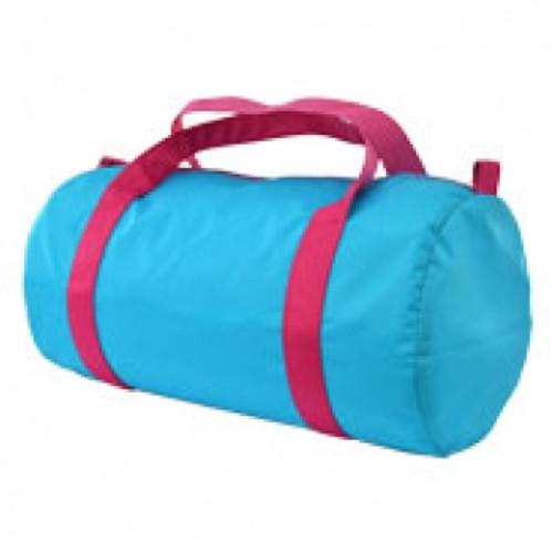 Aqua and Pink Duffel Bag