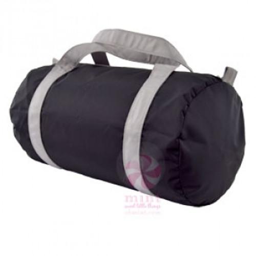 Black And Gray Duffel Bag