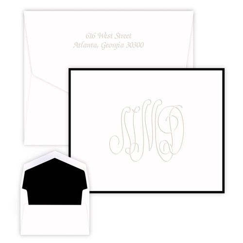 Embossed Henley Traditional Monogram Note