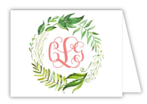 Vine Wreath Folded Note