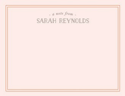 Blushing Border Flat Note