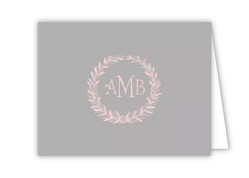 Classic Engraving Grey Folded Note