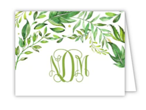 Greenery Folded Note