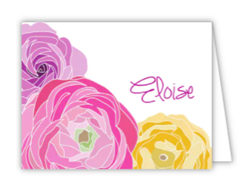 Beautiful Floral Folded Note