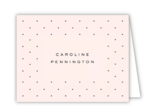 Dainty Dots Folded Note