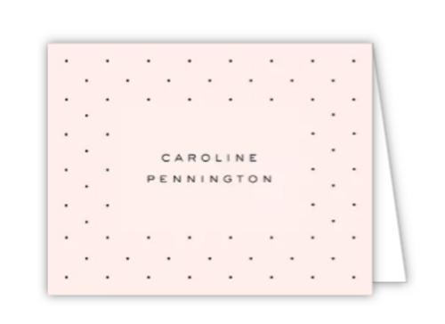 Dainty Dots Folded Note