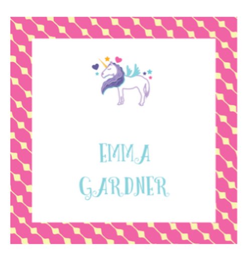 Unicorn Square Gift Sticker