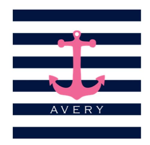 Pink Anchor Gift Sticker