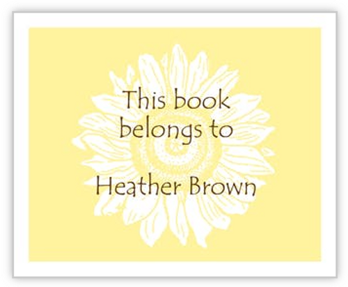 Sunflower Book Sticker