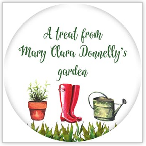 Gardening Circle Sticker