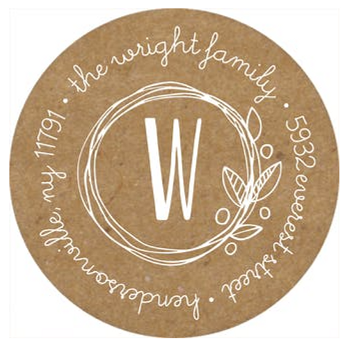 Twin Garden Wreaths Address Label