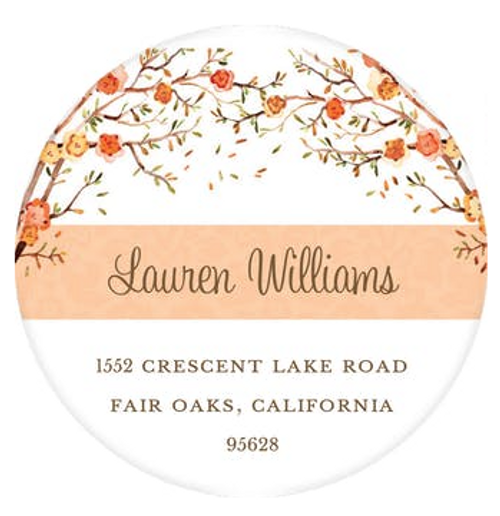 Baby Bird Fall Address Label