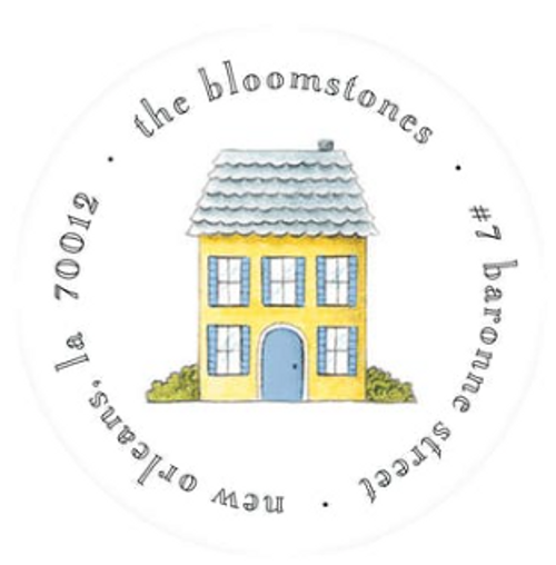 Tiny No Place Like Home Address Label