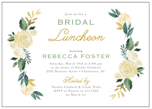 Bridal Blooms Invitation