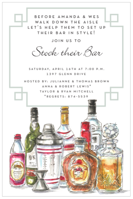 Spirit Bottles Invitation