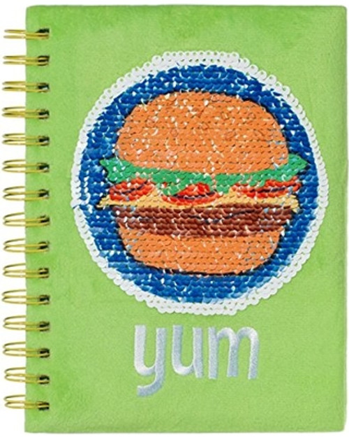 journal showing hamburger