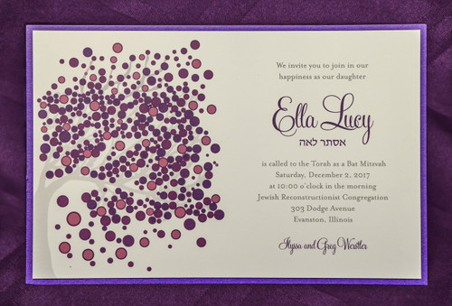Ella Lucy: Bat Mitzvah Invitation