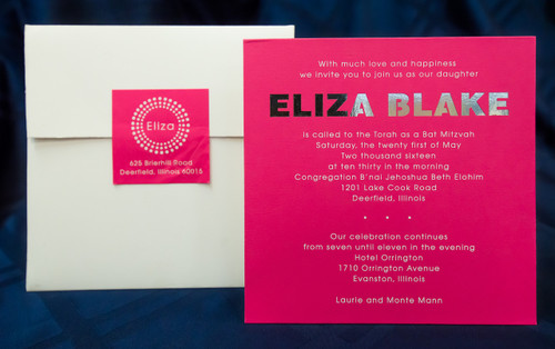 Eliza Blake: Bat Mitzvah Invitation
