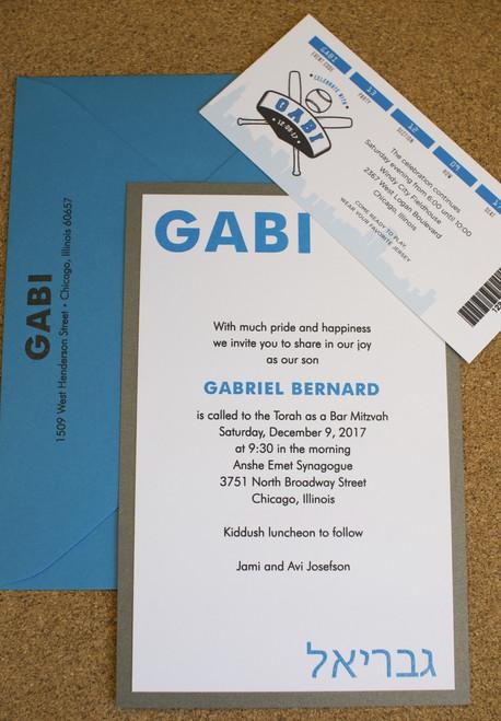 Gabriel Bernard: Bar Mitzvah Invitation