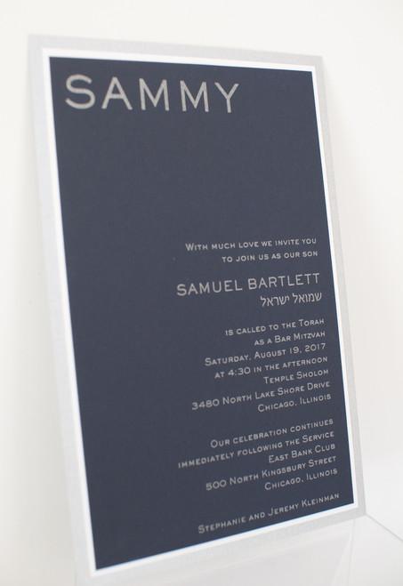 Samuel Barlett: Bar Mitzvah Invitation