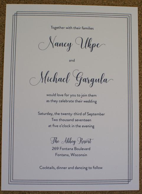 Nancy and Michael: Wedding Invitation