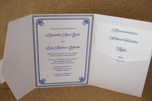 Elizabeth and Erik: Wedding Invitation