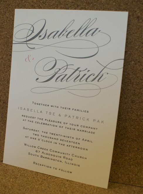 Isabella and Patrick: Wedding Invitation